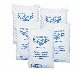 Соль таблетированная Славянск Украина, мешок 25 кг.