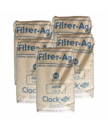Clack Filter-Ag A8014 алюмосиликатная засыпка для очистки воды от механических примесей 11,4 кг (США)