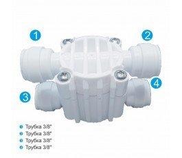 """OEM 4WF38 3/8"""" четырехходовой клапан для обратного осмоса"""