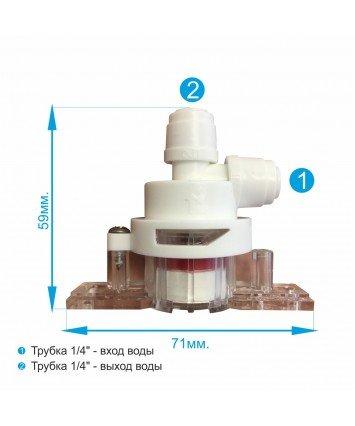 JM-1001 Аквастоп. Клапан защиты от протечек для фильтров обратного осмоса и проточных питьевых фильтров