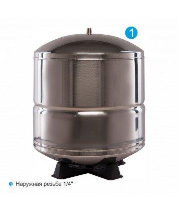 Purotek TSM-45G накопительный бак для систем обратного осмоса из нержавеющей стали (17/12л.)