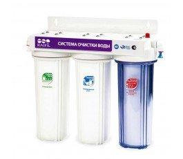Raifil PU905W3-WF14-PR-EZ 3х ступенчатый проточный питьевой фильтр под кухонную мойку