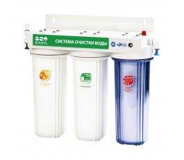 Raifil PU905-S3-WF14-PR-EZ проточный питьевой фильтр под кухонную мойку с умягчающим картриджем