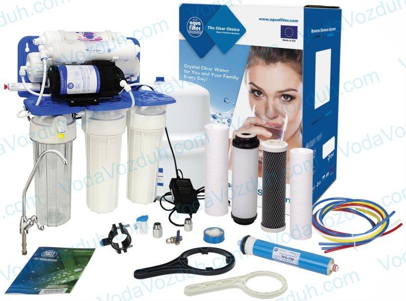 Aquafilter RP-RO6-75 RP65155616 с помпой и минерализатором