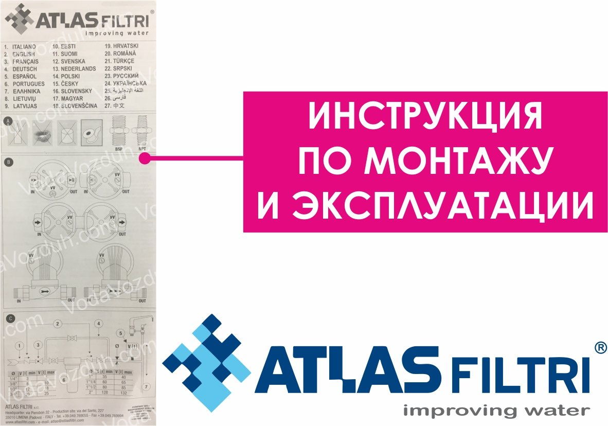 ATLAS filtri Senior Plus HOT 3P AFP инструкция