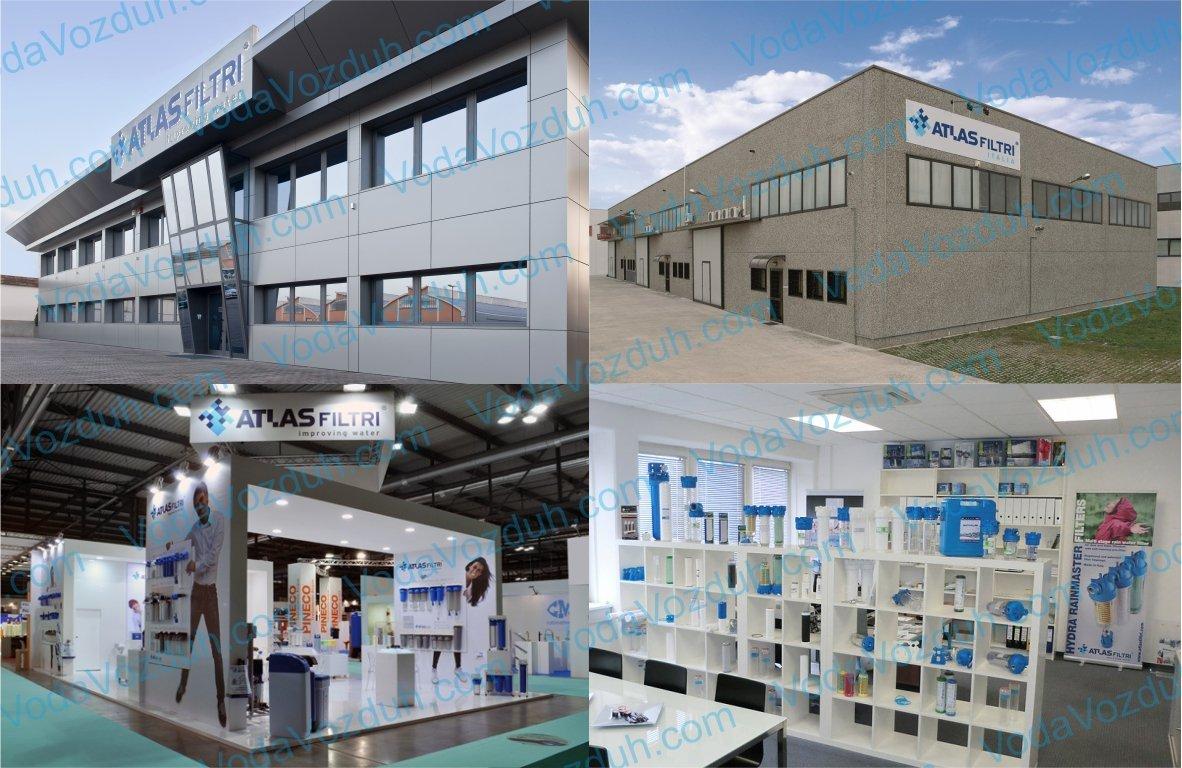 фотография завода по производству фильтров для воды ATLAS filtri