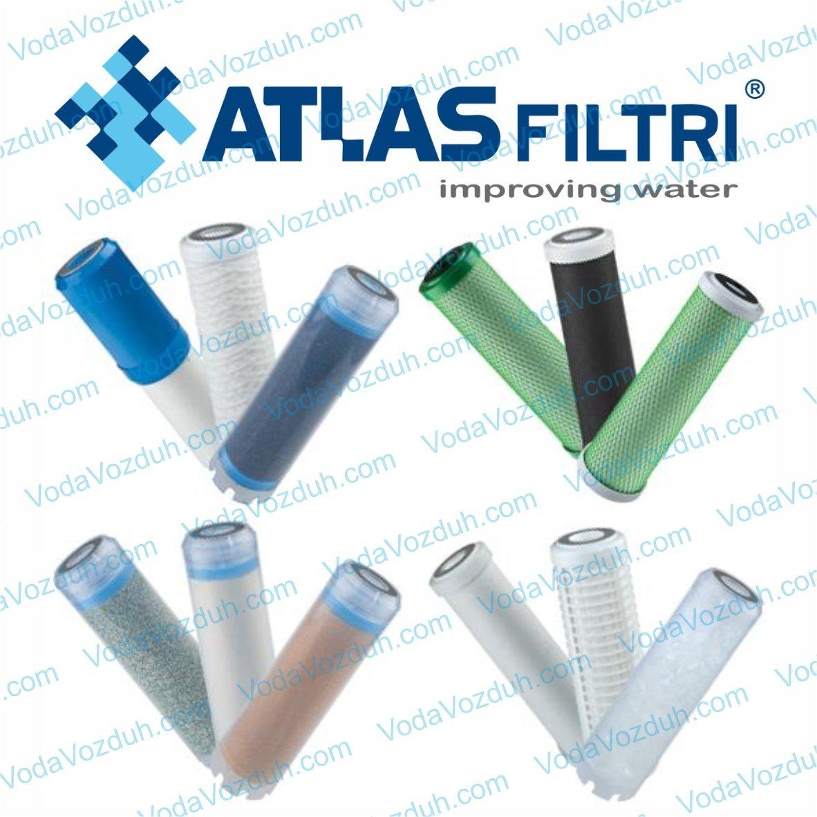 сменные картриджи ATLAS filtri  стандарта Slim 10 к фильтрам для воды