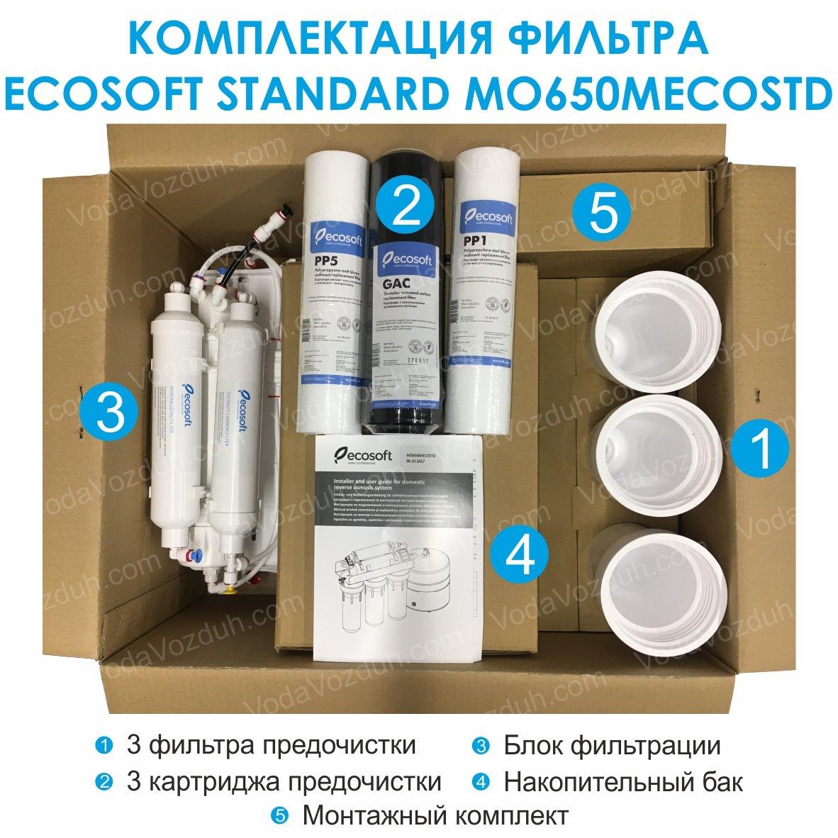 Ecosoft Standard 6-50M комплектация