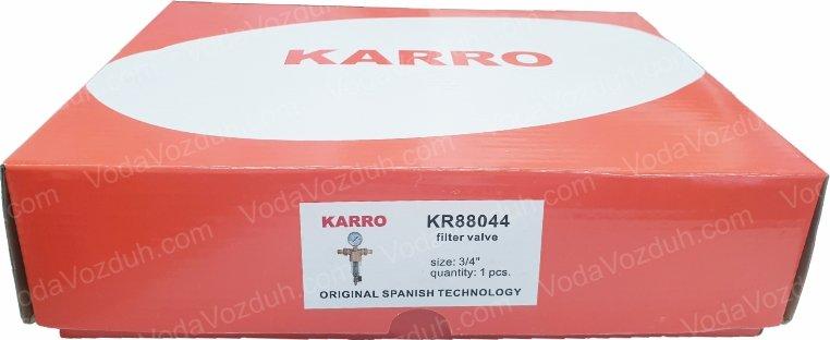 "Karro KR88044 3/4"" коробка с этикеткой"