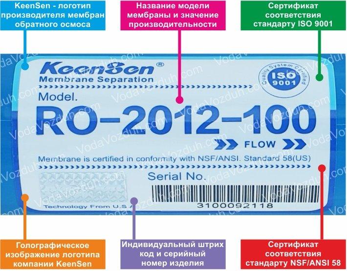 KeenSen RO-2012-150 100 GPD мембрана